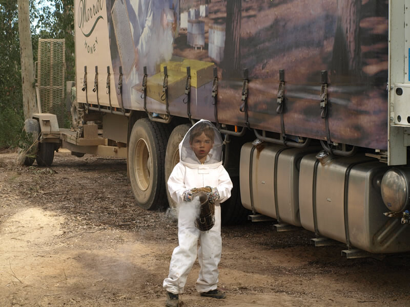 A young Teague getting into beekeeping